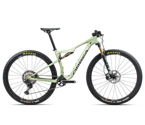 NEW 2021 Orbea OIZ M10 M + OC2 Dropper Lichen Green (Matte-Gloss) - Black (Matte)