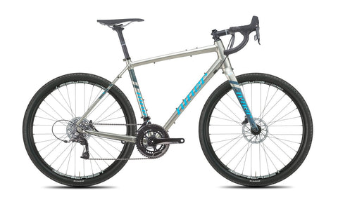 NEW 2020 Niner RLT 9 Gravel Bike, 3-Star SRAM Rival 22, 650b, Forge Grey/Skye Blue