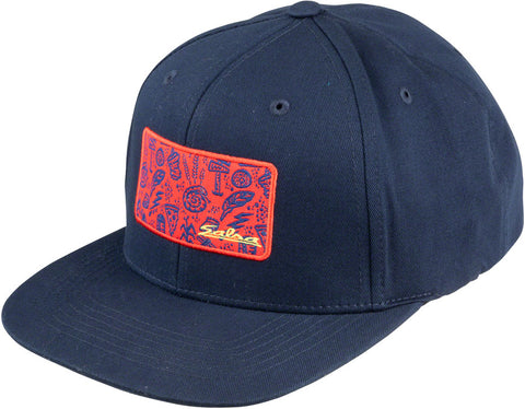 NEW Salsa Gravel Icons Trucker Hat - Blue, Red, Yellow, One Size
