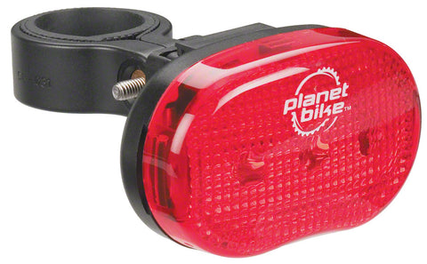 NEW Planet Bike Blinky 3 Taillight: Red/Black