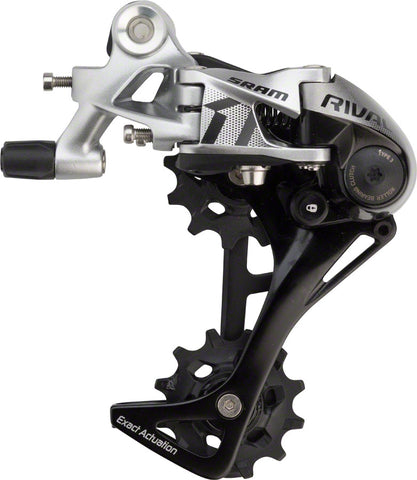 NEW SRAM Rival 1 Rear Derailleur - 11 Speed, Long Cage, Black/Silver