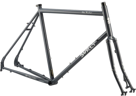 "NEW Surly Disc Trucker 26"" Bituminous Gray Touring Frame"
