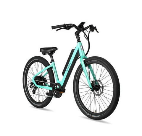 NEW 2020 Aventon Pace 500 Step Through E-Bike, Celeste