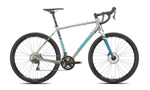 NEW 2020 Niner RLT 9 Gravel Bike, 4-Star Shimano GRX 800, 650b, Forge Grey/Skye Blue