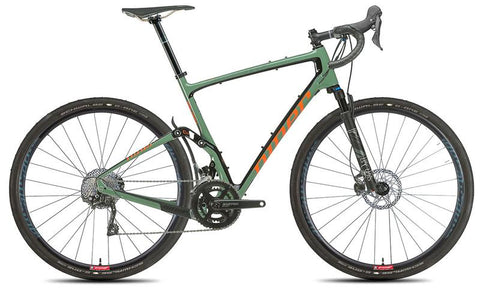 NEW 2020 Niner MCR 9 RDO Full Suspension Gravel Bike, 2-Star Shimano GRX 400, Olive Green/Orange