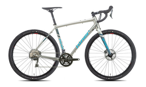 NEW 2020 Niner RLT 9 Gravel Bike, 4-Star Shimano GRX 800, 700c, Forge Grey/Skye Blue