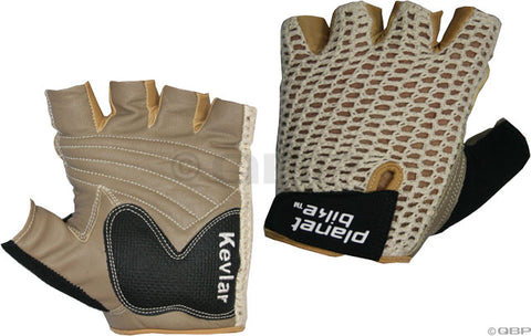 NEW Planet Bike Taurus Fingerless Cycling Glove: Tan, MD