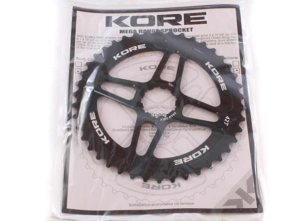 NEW Kore Mega Cog for SRAM, 42T - Black 1x10 Speed Wide Range Mountain Gravel