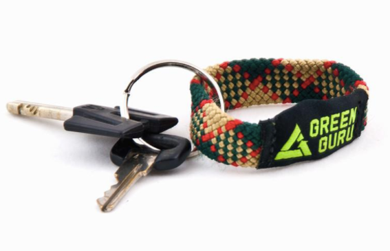 UPCYCLED Green Guru Climbing Rope Key Chain - Around the Cycle
