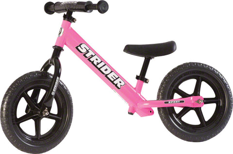 NEW Strider 12 Sport Kids Balance Bike: Pink