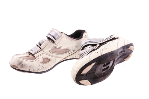 USED Shimano SH-WR35 Women's Road Cycling Shoes Size 37EU 5.5US Women's 2 Bolt
