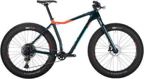 NEW Salsa Mukluk Carbon NX Eagle - Dark Green Fat Bike