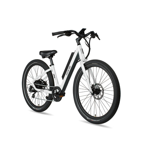NEW 2020 Aventon Pace 350 Step Through E-Bike, Chalk White