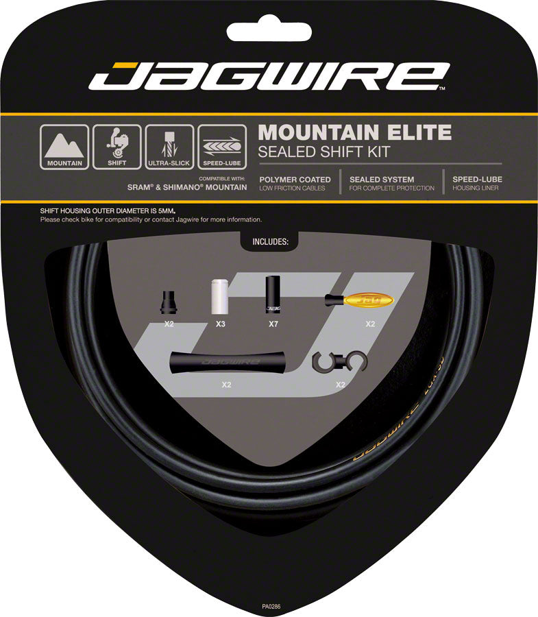 NEW Jagwire Mountain Elite Sealed Shift Cable Kit, Frozen Black