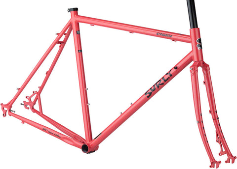 NEW Surly Straggler 700c Frameset - Salmon Candy Red Cyclocross Frame