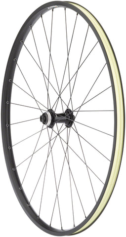 NEW Quality Wheels Value Double Wall Series Disc Front Front Wheel - 700, 12 x 100mm, Center-Lock, Black
