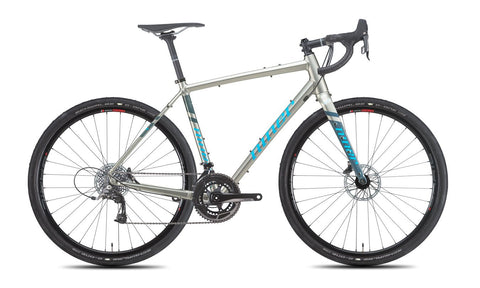 NEW 2020 Niner RLT 9 Gravel Bike, 3-Star SRAM Rival 22, 700c, Forge Grey/Skye Blue