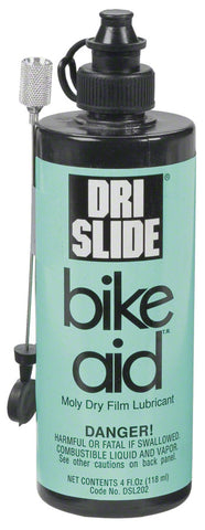 NEW Bike Aid Dri-Slide 4oz. Lube with Needle Nozzle