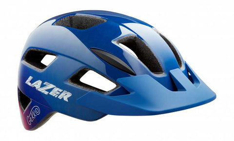 Lazer Gekko BLUE PINK ONE Youth Kids Helmet