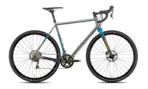 NEW 2020 Niner RLT 9 Steel Gravel Bike, 4-STAR SHIMANO GRX 800 2X, 700c, Forge Grey/Baja Blue