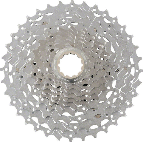 Shimano Deore XT CS-M771 Cassette - 10 Speed, 11-36t, Silver