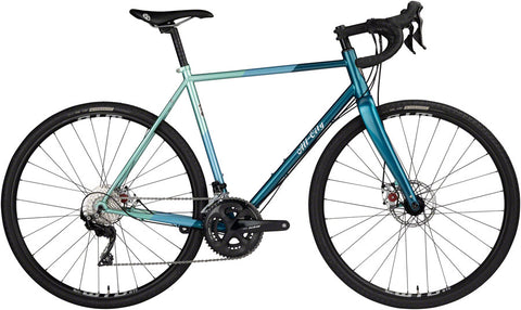 NEW All-City Cosmic Stallion Bike - Blue/Green Stripes All-Road Bike