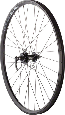 "NEW Quality Wheels Mountain Disc Front Wheel 26"" 100mm QR SRAM 406 6-bolt / WTB FX23 Black 32h"
