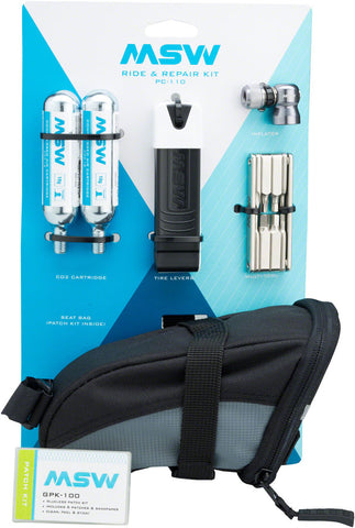 NEW MSW Ride and Repair Kit with Seatbag and CO2
