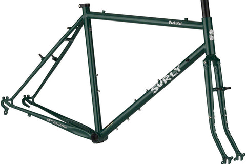 NEW Surly Pack Rat Frameset - Get In Green Touring Frame