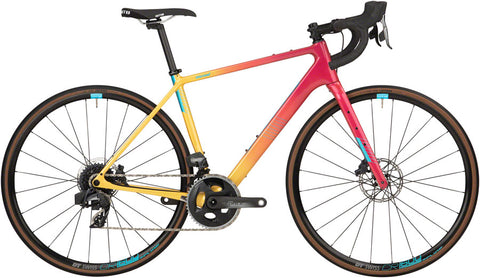 NEW Salsa Warroad Force AXS - Pink/Yellow Fade, 700 All-Road Bike
