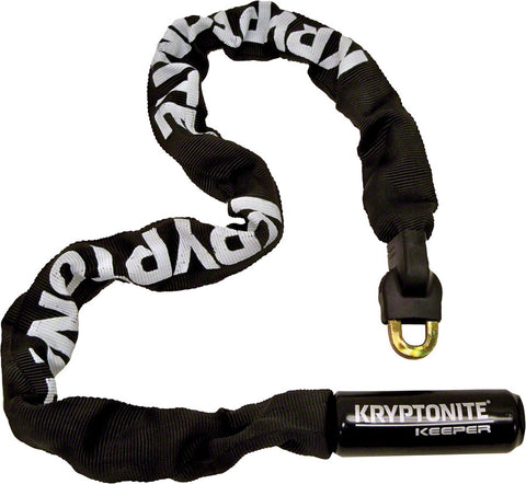 NEW Kryptonite Keeper 785 Integrated Chain Lock - 85cm (2.8'), 7mm, Keyed, Black