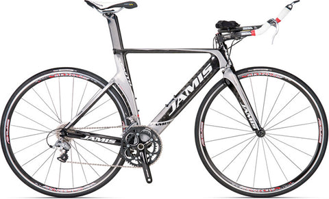 NEW 2011 Jamis Xenith T Chromium/Natural Carbon XS (650) TT Tri Bike