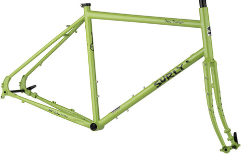 NEW Surly Disc Trucker Frameset - Pea Lime Soup 700 Touring Frame