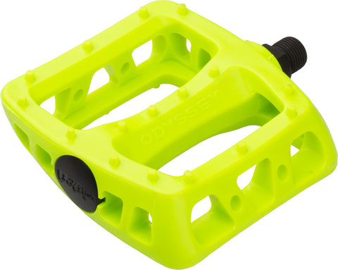 "NEW Odyssey Twisted PC Pedals 9/16"" Fluorescent Yellow"