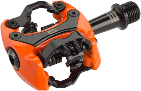 "NEW iSSi Flash III Pedals - Dual Sided Clipless, Aluminum, 9/16"", Orange"