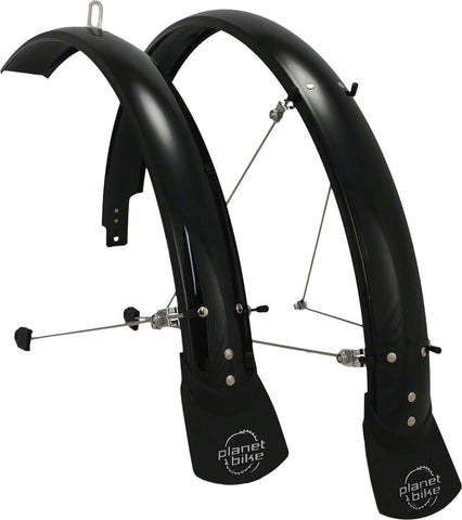 "NEW Planet Bike Hardcore 26"" x 60 Fender Set: Black (26 x 1.4-1.9)"