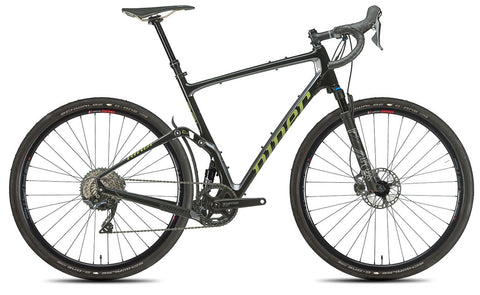NEW 2020 Niner MCR 9 RDO Full Suspension Gravel Bike, 4-STAR SHIMANO GRX 800 1X, Black/Magnetic Gray