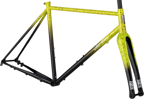 NEW All-City Macho King A.C.E. - Yellow Fade Splatter Cyclocross Frame