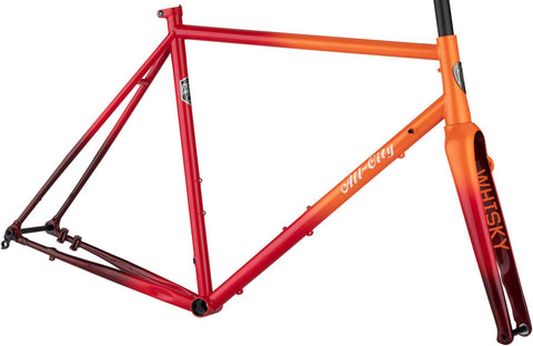 NEW All-City Zig Zag - Orange/Red Fade Road Frame
