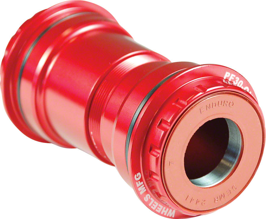 NEW Wheels Manufacturing PressFit 30 to SRAM Bottom Bracket with Angular Contact Bearings Red Cups