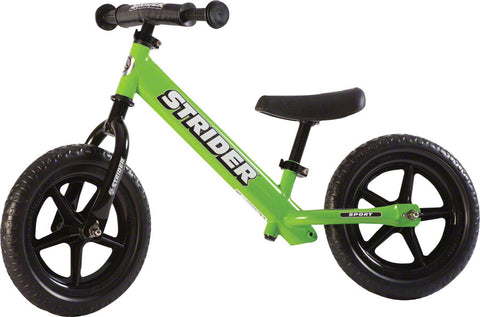 NEW Strider 12 Sport Kids Balance Bike: Green