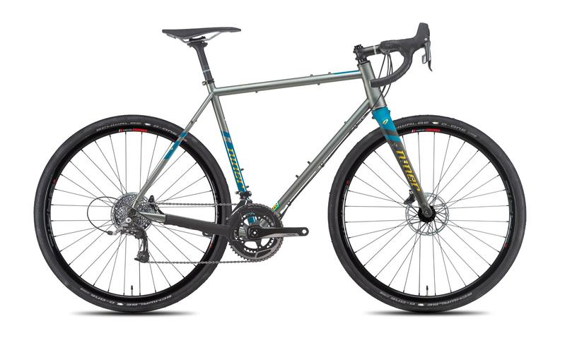 NEW 2020 Niner RLT 9 Steel Gravel Bike, 3-STAR SRAM RIVAL 22, 700c, Forge Grey/Baja Blue
