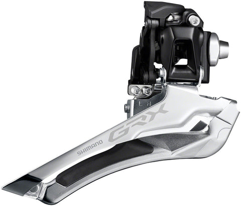 NEW Shimano GRX FD-RX400-F 2x10 Speed Braze-On Front Derailleur, 46t Max Chainring