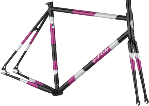 NEW All-City Big Block - Midnight/Frost/Violet Track Frame