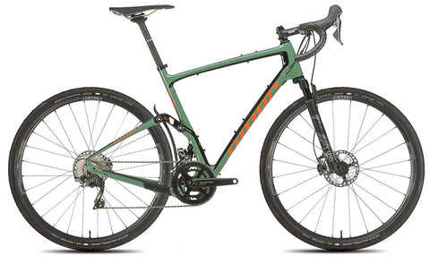 NEW 2020 Niner MCR 9 RDO Full Suspension Gravel Bike, 5-STAR SHIMANO GRX 800 2X, Olive Green/Orange