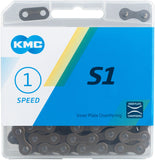 "NEW KMC S1 Chain - Single Speed 1/2"" x 1/8"", 112 Links, Brown"