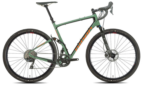NEW 2020 Niner MCR 9 RDO Full Suspension Gravel Bike, 4-STAR SHIMANO GRX 800 1X, Olive Green/Orange