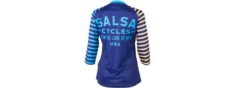 NEW Salsa Devour Women's Short Sleeve Jersey: Blue MD