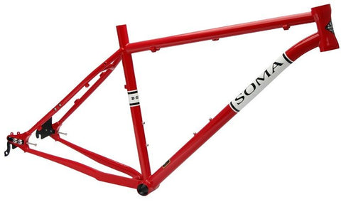 "Soma B-Side Md/16.5"" Steel 27.5"" Hardtail Mountain Bike Frame Fiery Red"