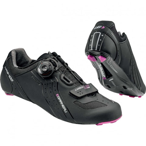 *NEW* Louis Garneau Women's Carbon LS-100 cycling shoes, Size 37, Black - Around the Cycle